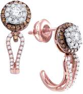 TheJewelryMaster 0.73CTW DIAMOND FASHION EARRINGS