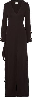 Lanvin Lace-up Crepe Gown