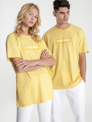 Napapijri Sox Short Sleeve T-Shirt in Yellow