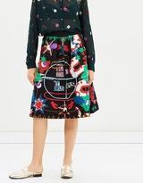 Maison Scotch Flaring Midi Skirt