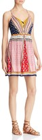 Aqua Patchwork Lace-Up Dress - 100% Exclusive
