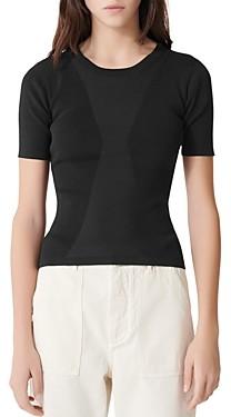 Maje Musa Slim-Cut Short-Sleeve Sweater