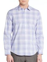 Calvin Klein Regular-Fit Cool Tech Plaid Sportshirt