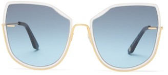 Atelier Moy Nobody's Darling Cat-eye Gold-plated Sunglasses - Womens - Gold