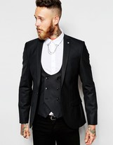 Religion X Noose & Monkey Skinny Fit Suit Jacket With Stretch - Black