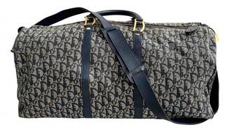 Christian Dior Blue Cloth Travel bags