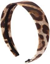 Dolce & Gabbana Leopard Print Cotton Poplin Headband