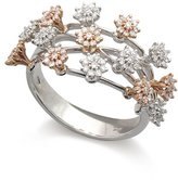 Tatitoto Daisies Women's Ring in 18k Gold with Diamond H/SI (total diamonds 0.60 ct), Size 7, 6.5 Grams
