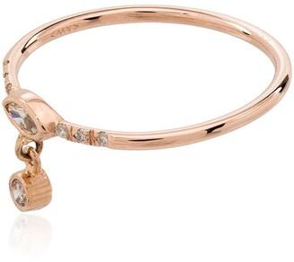 Xiao Wang 14kt rose gold Gravity diamond ring