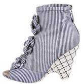 Chanel Camellia Striped Booties w/ Tags