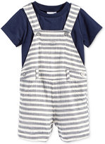 First Impressions 2-Pc. T-Shirt & Herringbone Overall Set, Baby Boys (0-24 months), Only at Macy's