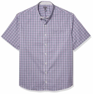 Van Heusen Men's Big and Tall Flex Short Sleeve Button Down Check Shirt