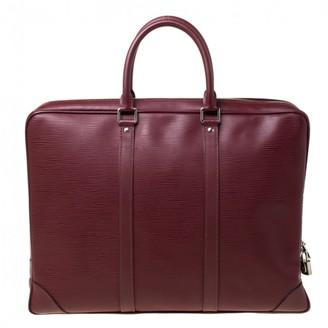 Louis Vuitton Porte Documents Voyage Burgundy Leather Bags