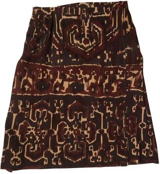 Saint Laurent Burgundy Wool Skirt for Women Vintage