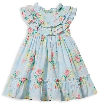 Janie and Jack Baby Girl's Floral Ruffled Dress