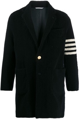 Thom Browne Lightweight Unconstructed Sack 4-Bar Overcoat