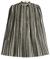 Alexander McQueen Embroidered wool-blend cape