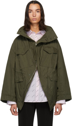 Balenciaga Khaki Twill Swing Jacket