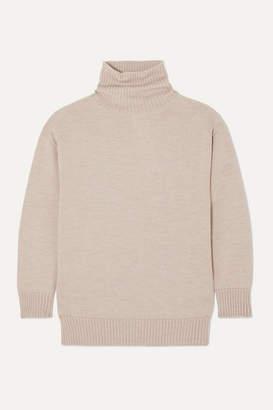 Max Mara Leisure Wool Turtleneck Sweater - Beige