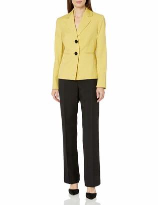 Le Suit LeSuit Women's Melange Twill 2 Button Notch Lapel Pant