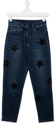 MonnaLisa TEEN star-patch jeans