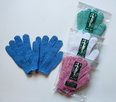 4 pairs/set Touch Me ® Exfoliating Spa Bath Gloves, assorted colors (4 pack)
