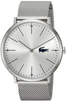 Lacoste Men's 'MOON' Quartz Stainless Steel Casual Watch, Color:Silver-Toned (Model: 2010901)