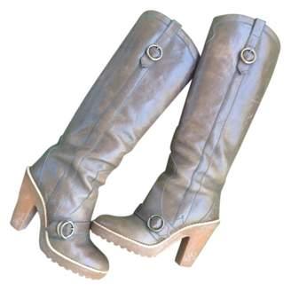 Marc Jacobs Khaki Leather Boots