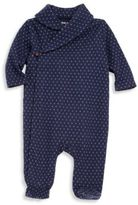 Ralph Lauren Baby's Shawl Collar Printed Footie