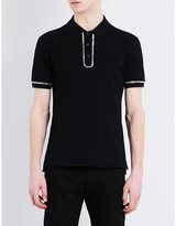 Givenchy Chain Cotton Polo Shirt
