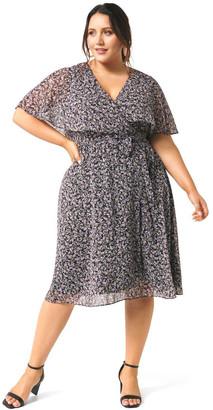 Forever New Curve Katie Cape Curve Wrap Dress