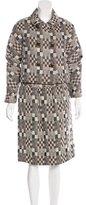 Oscar de la Renta Wool Patterned Skirt Suit w/ Tags