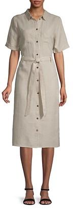 525 America Linen Shirtdress