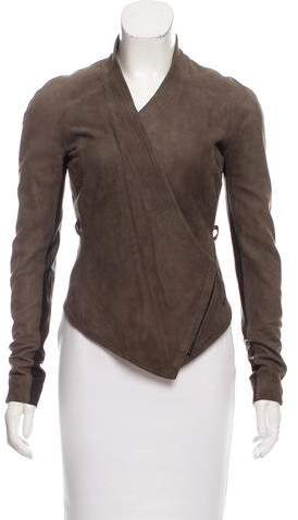 Aminaka Wilmont High-Low Suede Jacket w/ Tags