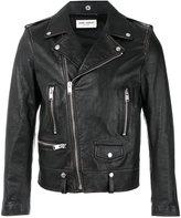 Saint Laurent biker jacket - men - Cotton/Leather/Polyester/Cupro - 48