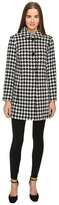 Kate Spade Double Breasted Check Peacoat Women's Coat