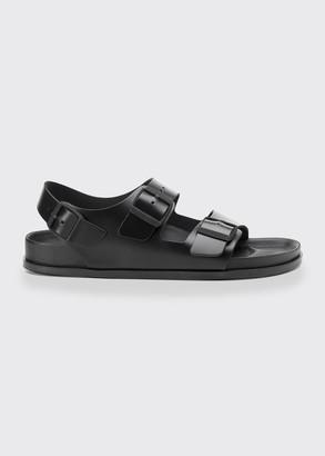 Birkenstock Milano Double Buckle Leather Sandals