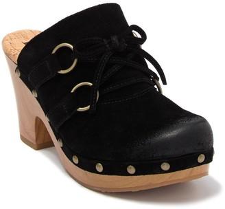 KORKS Woodley Bow Leather Clog