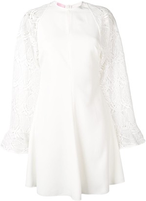 Giamba embroidered sleeve dress