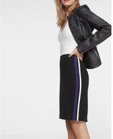 Express high waisted side stripe pencil skirt