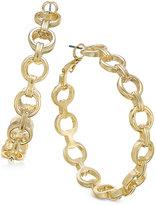 Thalia Sodi Gold-Tone Chain Link Hoop Earrings, Only at Macy's
