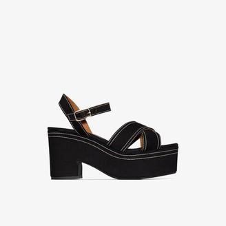 Castaner black Xally 100 platform sandals