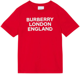 Burberry Girl's Abtot Logo-Print Crewneck T-Shirt, Size 3-14