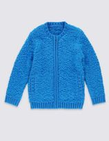 Marks and Spencer Long Sleeve Bomber Cardigan (1-7 Years)