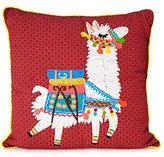 Lounge Llama Embroidered Pillow