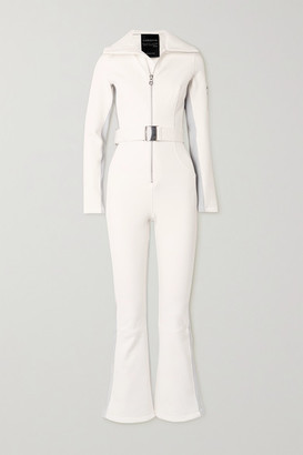 Cordova Signature In The Boot Belted Striped Ski Suit - Cream