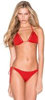 Caffe Swimwear - Lattice Design Bikini In Red