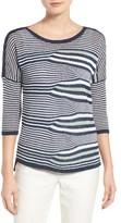 Nic+Zoe Women's Seastripe Linen Blend Pullover