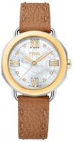 Fendi Women's Selleria Mother Of Pearl Leather Strap Watch, 36Mm