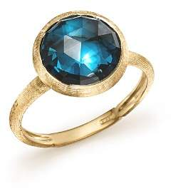 Marco Bicego 18K Yellow Gold Jaipur Blue Topaz Ring